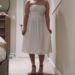 Aritzia Flowy White Dress